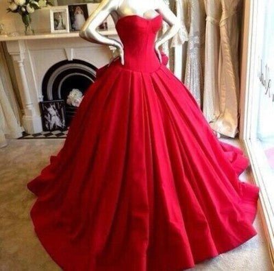 Red prom dresses,A-line prom dress,Sweetheart prom dress,2017 prom dresses,Long Ball Gown,Prom Dresses,BD006 - dream dress