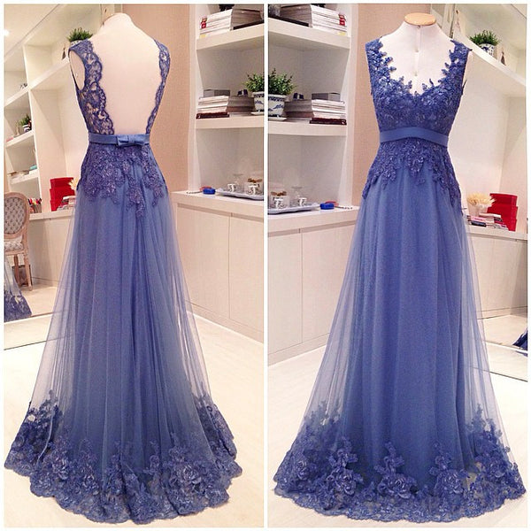 Purple Prom Dresses,Lace Prom Dresses,Backless Prom Dress,Long Prom Dress, 2017 Prom Dress,BD131 - dream dress