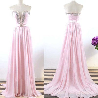 light pink Prom Dress,long Prom Dress,cheap Prom dress,strapless prom Dress,evening dress,BD609 - dream dress