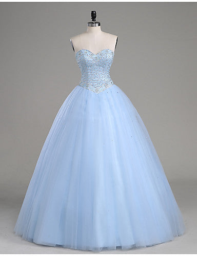 blue prom dress,tulle prom Dress,cheap Prom Dress,A-line prom dress,long prom dress,baded BD3906 - dream dress