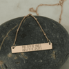 Positive Vibes Negative Splits Nameplate Necklace - Sarah Marie Design Studio