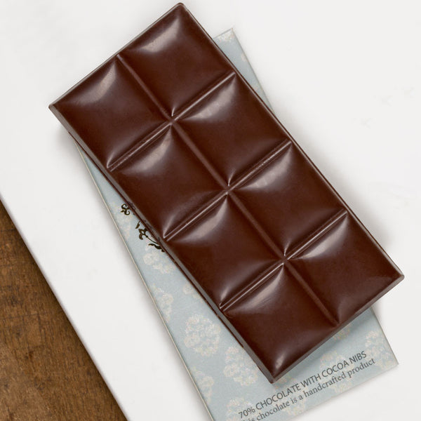 70% Chocolate with Cocoa Nibs
