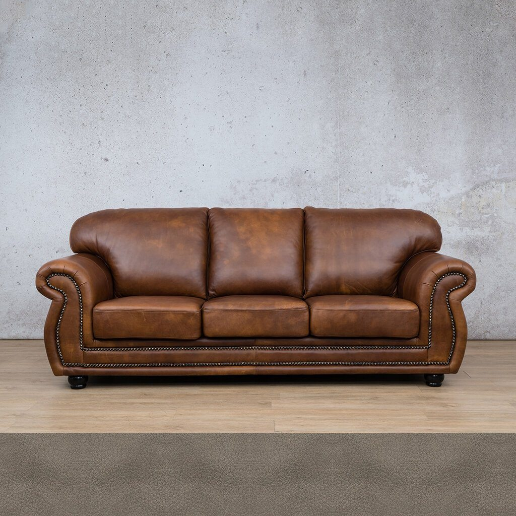 Isilo 3 Seater Leather Sofa