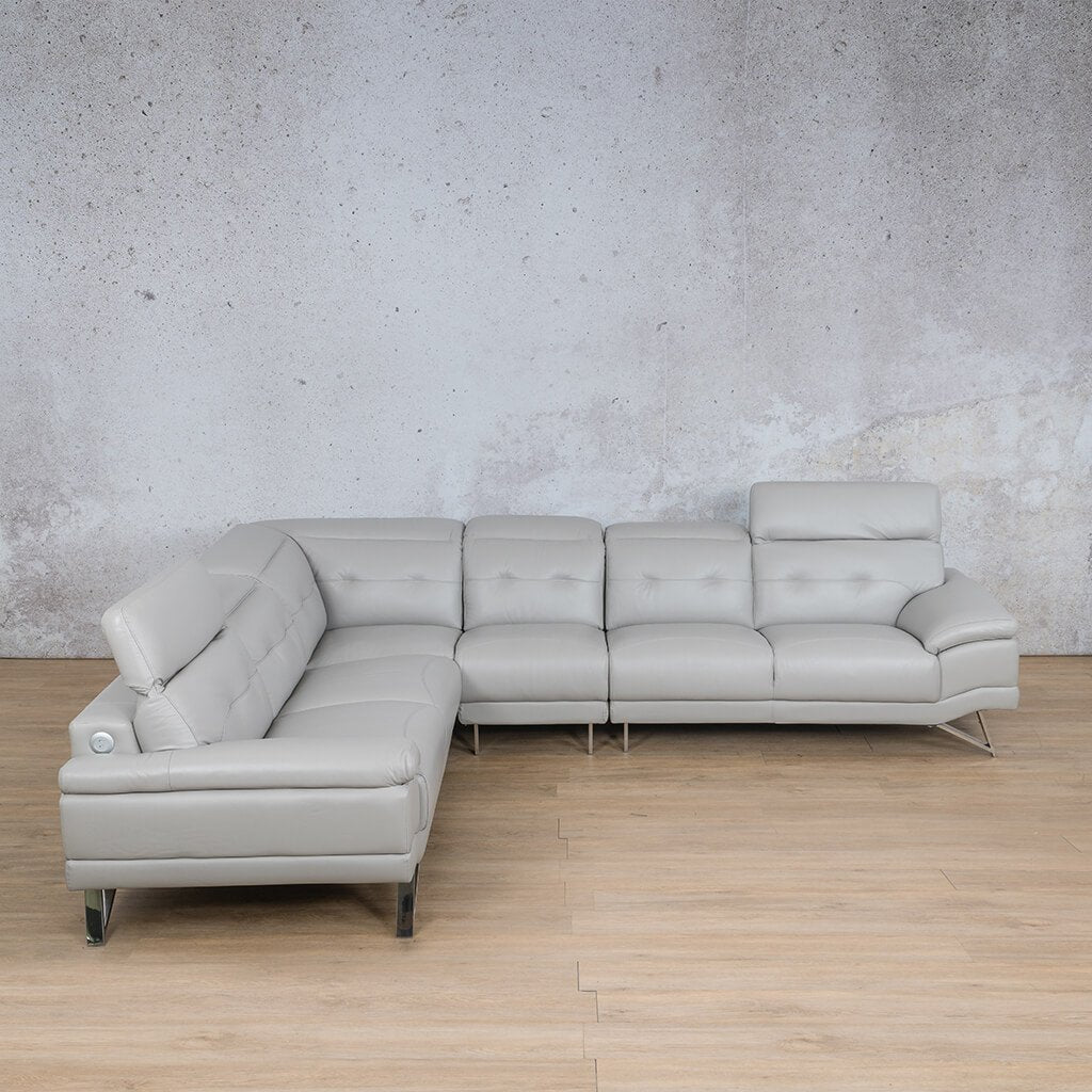 Manila Leather Sectional