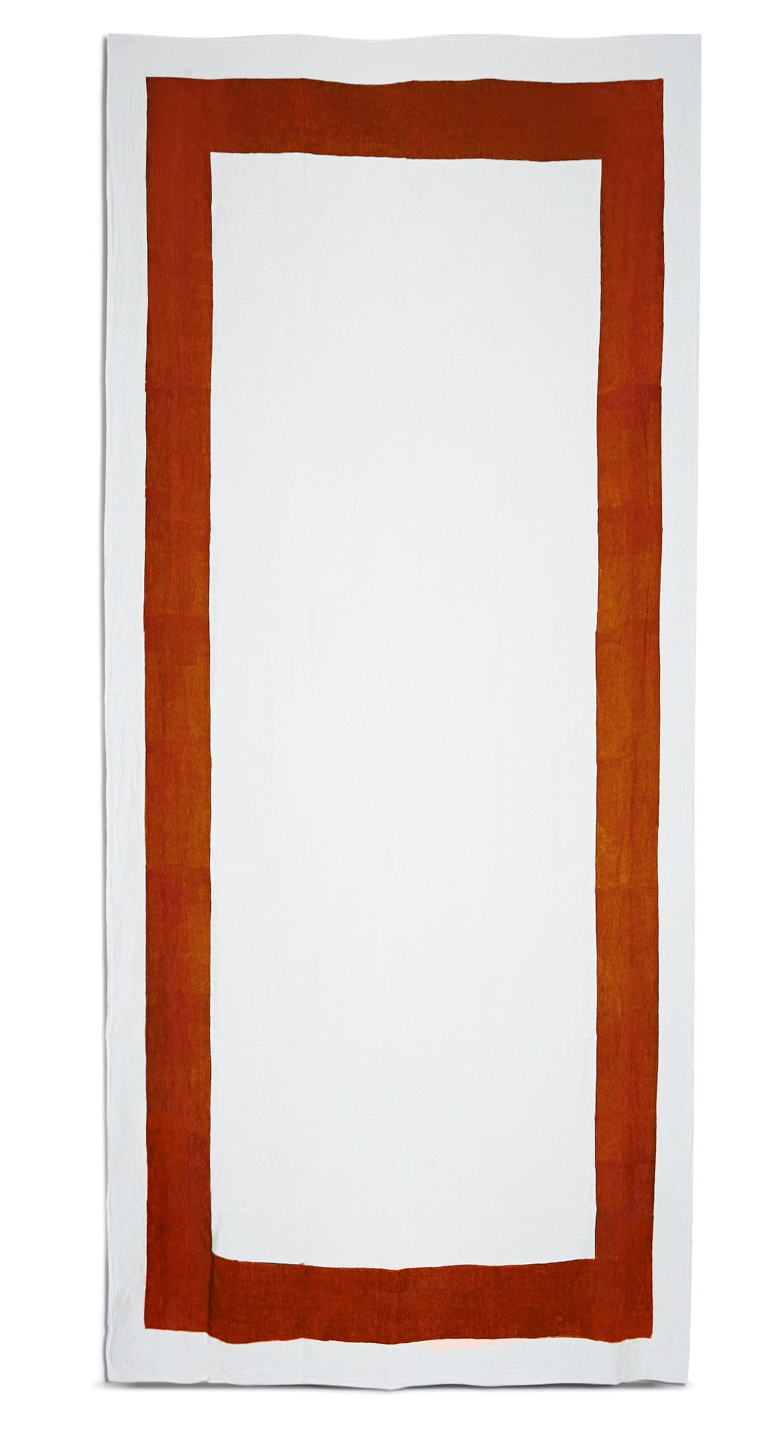 Cornice Linen Tablecloth in Rust Red
