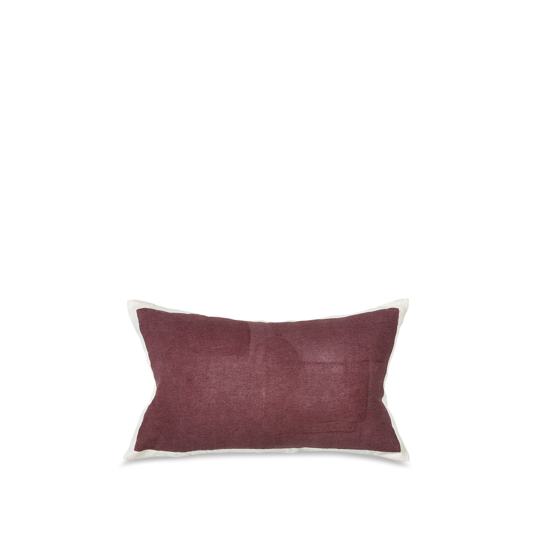 Hand Painted Linen Cushion Cover in Grape, 50cm x 30cm