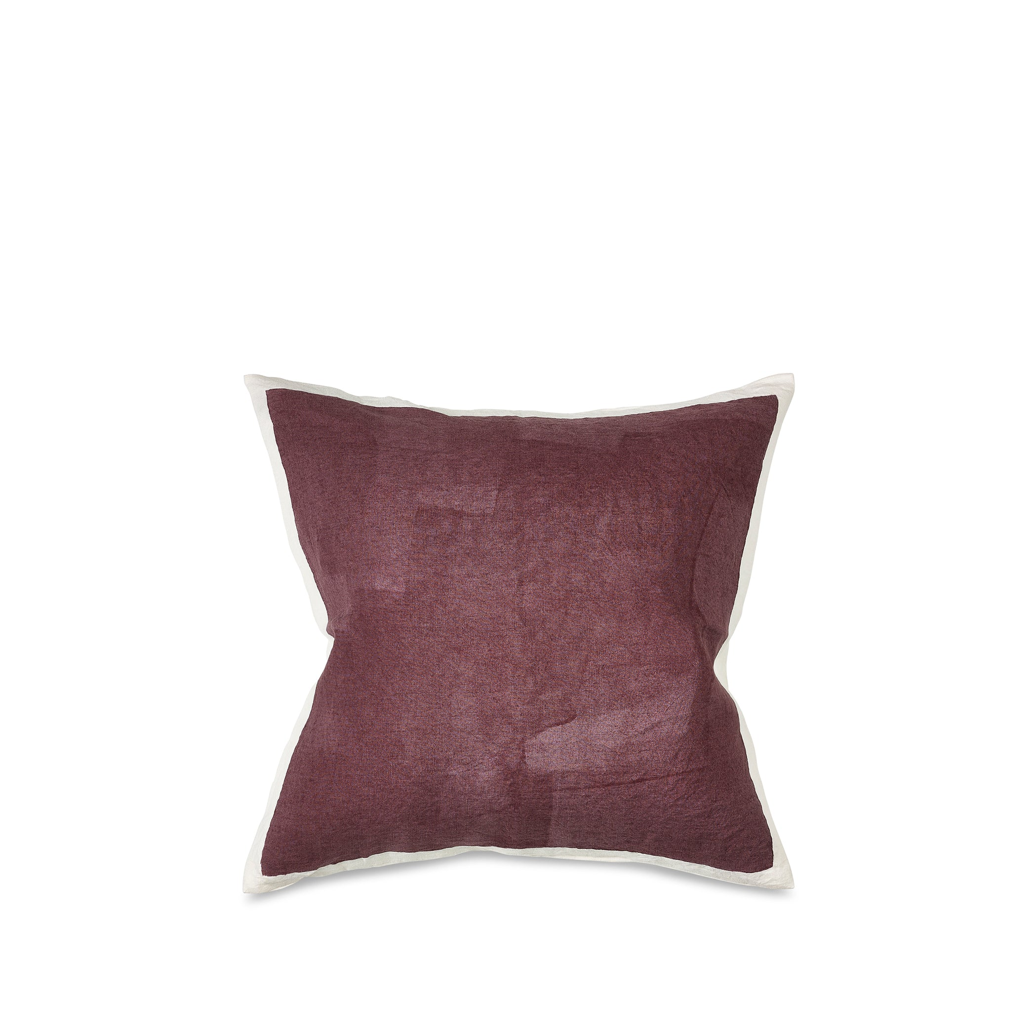 Hand Painted Linen Cushion Cover in Grape, 50cm x 50cm