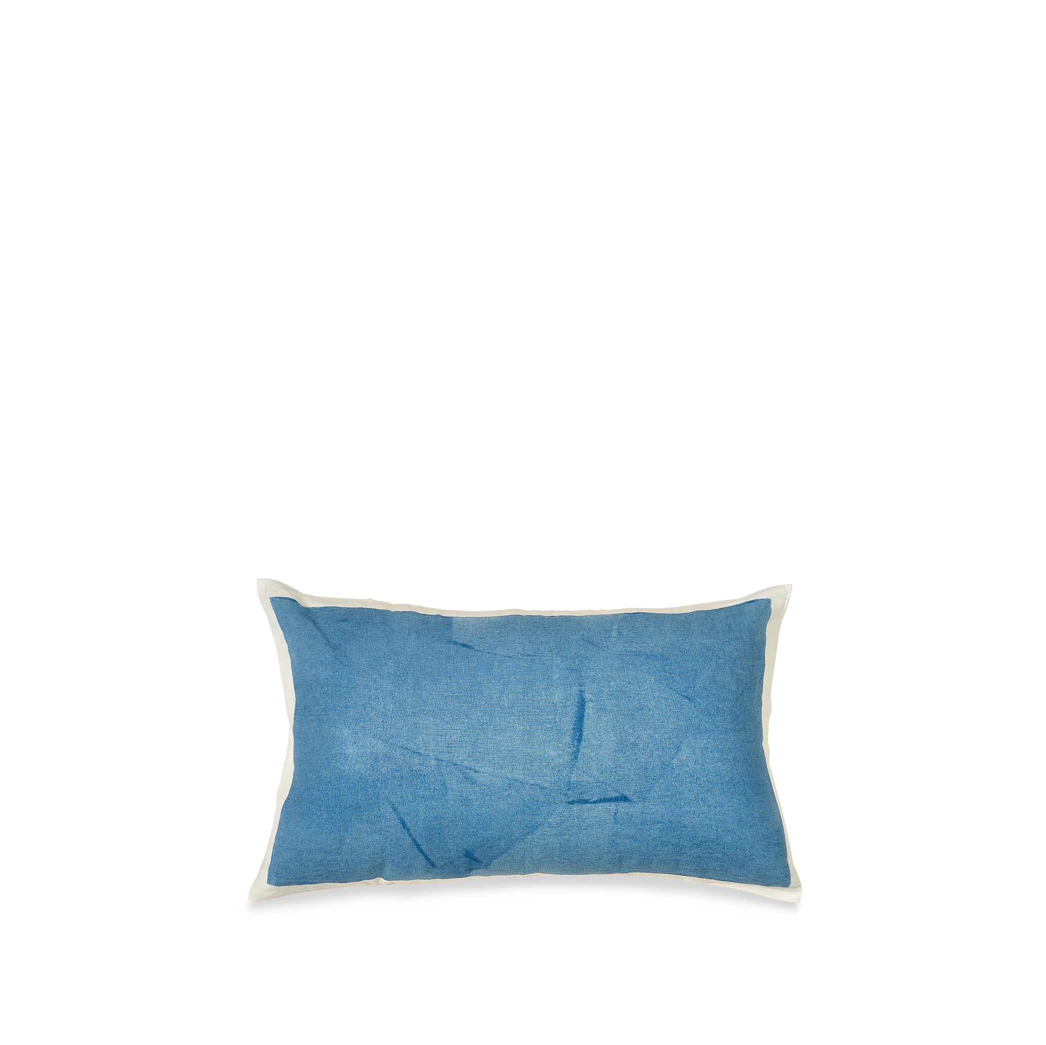 Hand Painted Linen Cushion Cover in Sky Blue, 50cm x 30cm