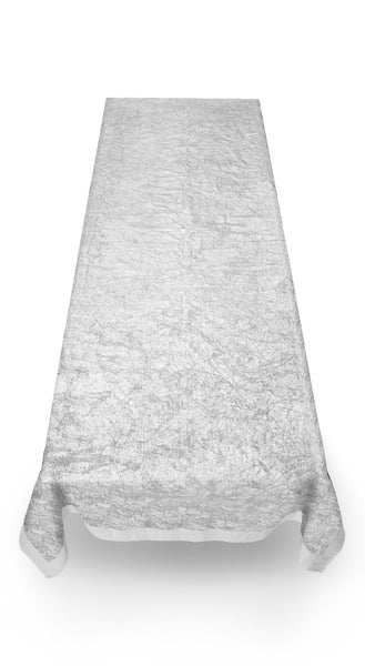 Full Field Linen Tablecloth in Silver