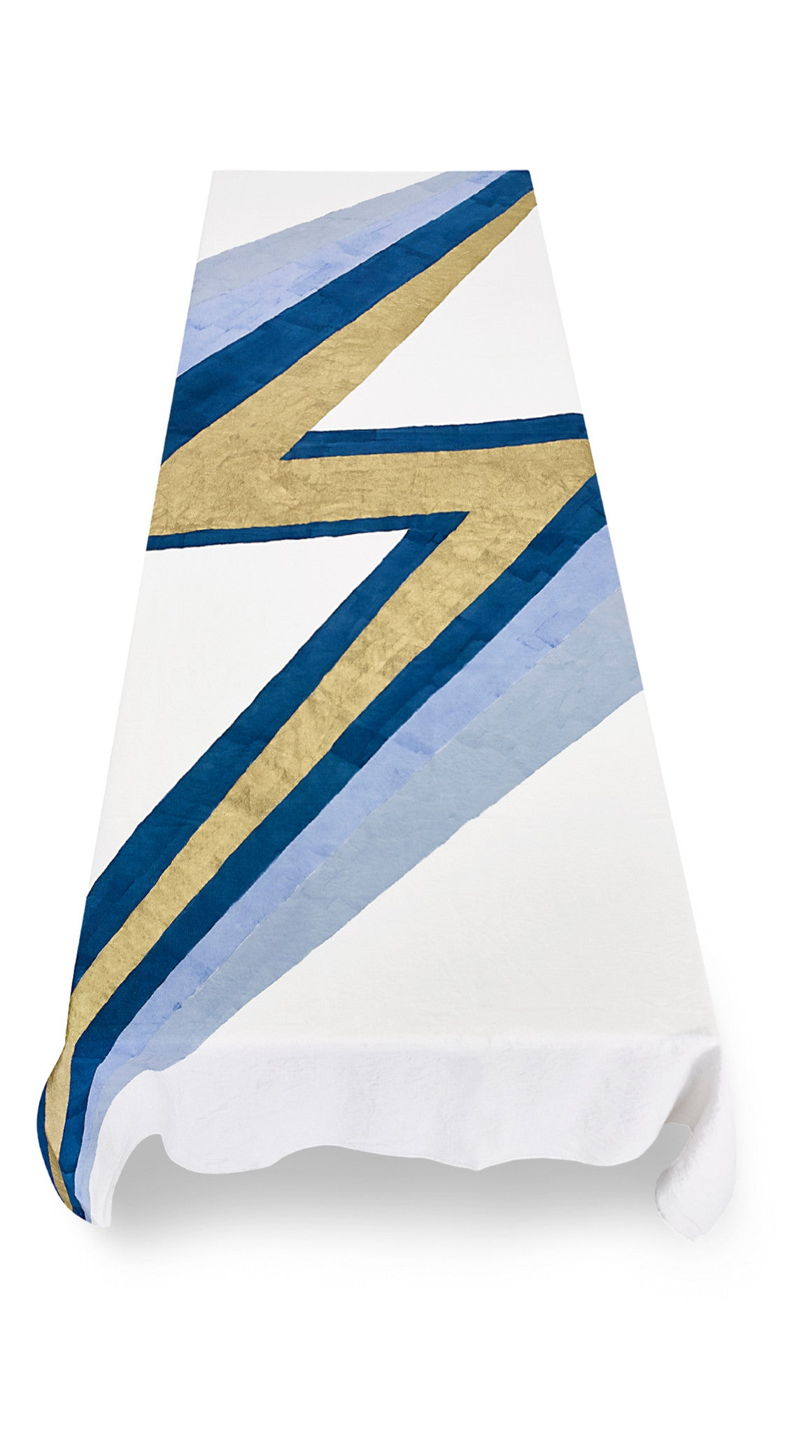 Bolt Linen Tablecloth in Blue and Gold