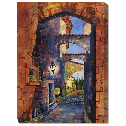Arches of San Gemini Outdoor Canvas Art - Outdoor Art Pros