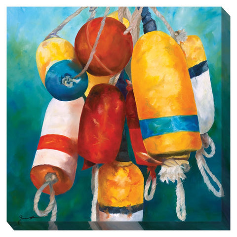 Buoys #1 Outdoor Canvas Art - Outdoor Art Pros