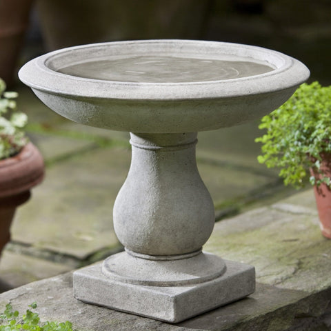 Beauvoir Cast Stone Birdbath - Outdoor Art Pros