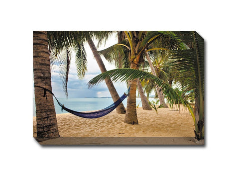 Blue Hammock Canvas Wall Art