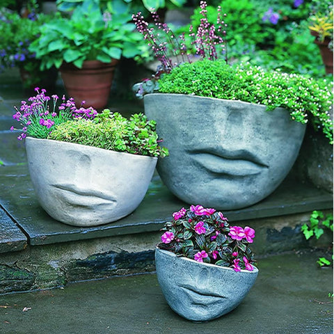 Faccia Contemporary Garden Planter - Outdoor Art Pros