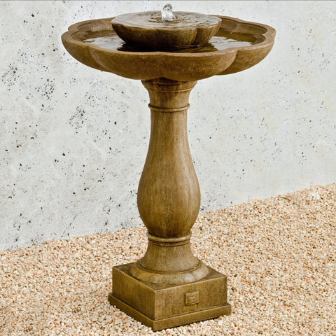 Flores Pedestal Water Fountain - Outdoor Art Pros