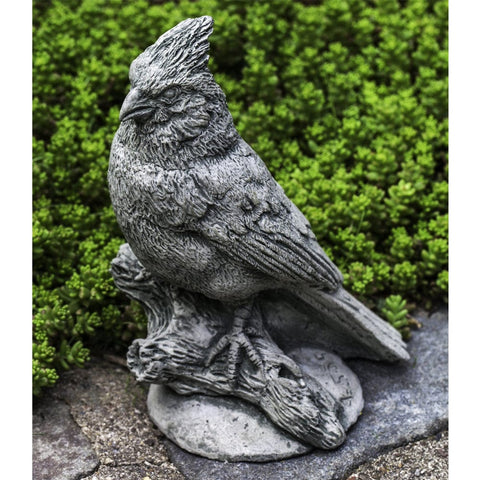 Northern Cardinal Cast Stone Garden Statue - Outdoor Art Pros