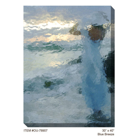 Blue Breeze Outdoor Canvas Art - Outdoor Art Pros