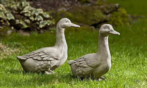 Quackers Cast Stone Garden Statue - Outdoor Art Pros