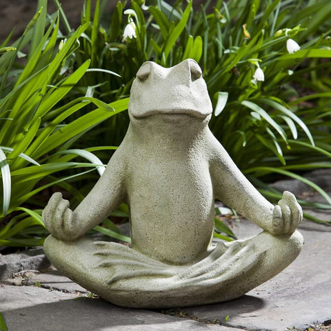 Totally Zen Too Cast Stone Garden Statue - Outdoor Art Pros