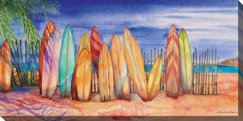 Surfs Up Outdoor Canvass Art - Outdoor Art Pros