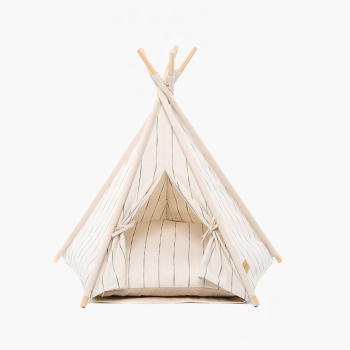 Teepee tent | Pin Stripe Ivory