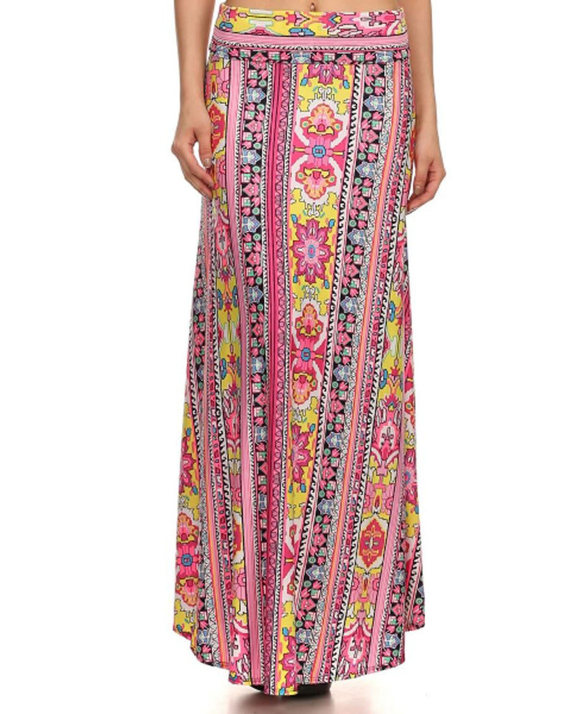 Maxi Skirt Tribal Pink