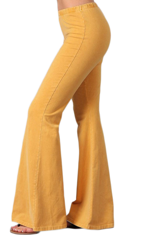 Bell Bottoms Denim Colored Yoga Pants Amber