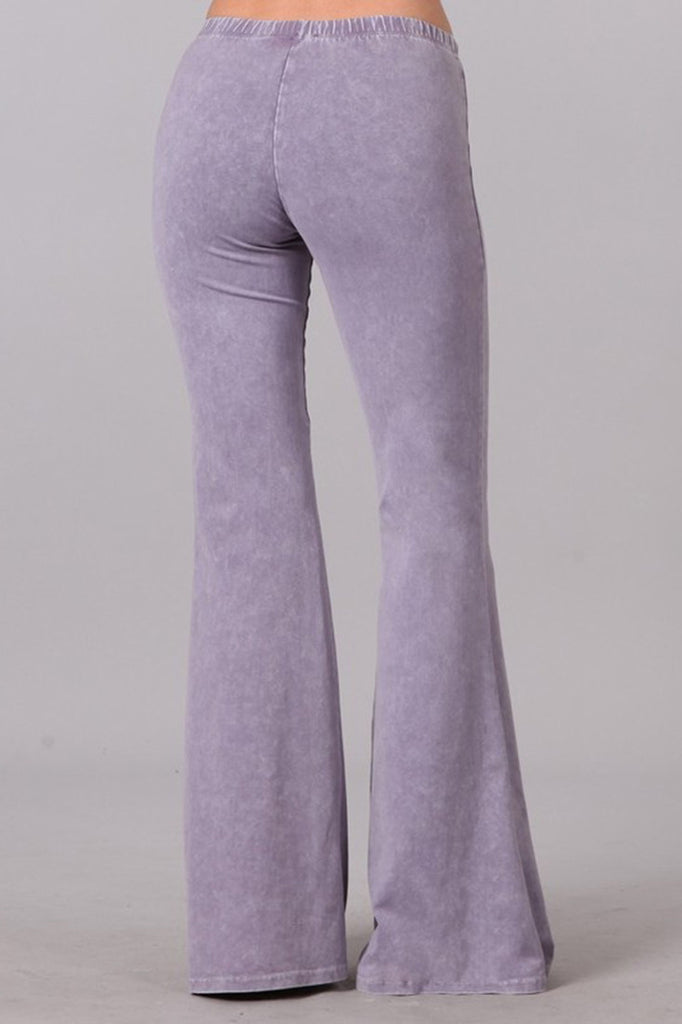 Bell Bottoms Yoga Stretch Pants Denim Lilac