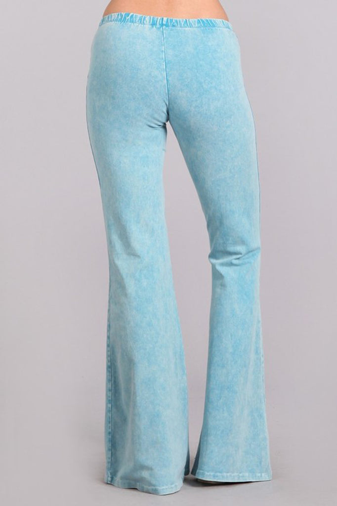 Bell Bottoms Denim Colored Yoga Pants Sky Blue
