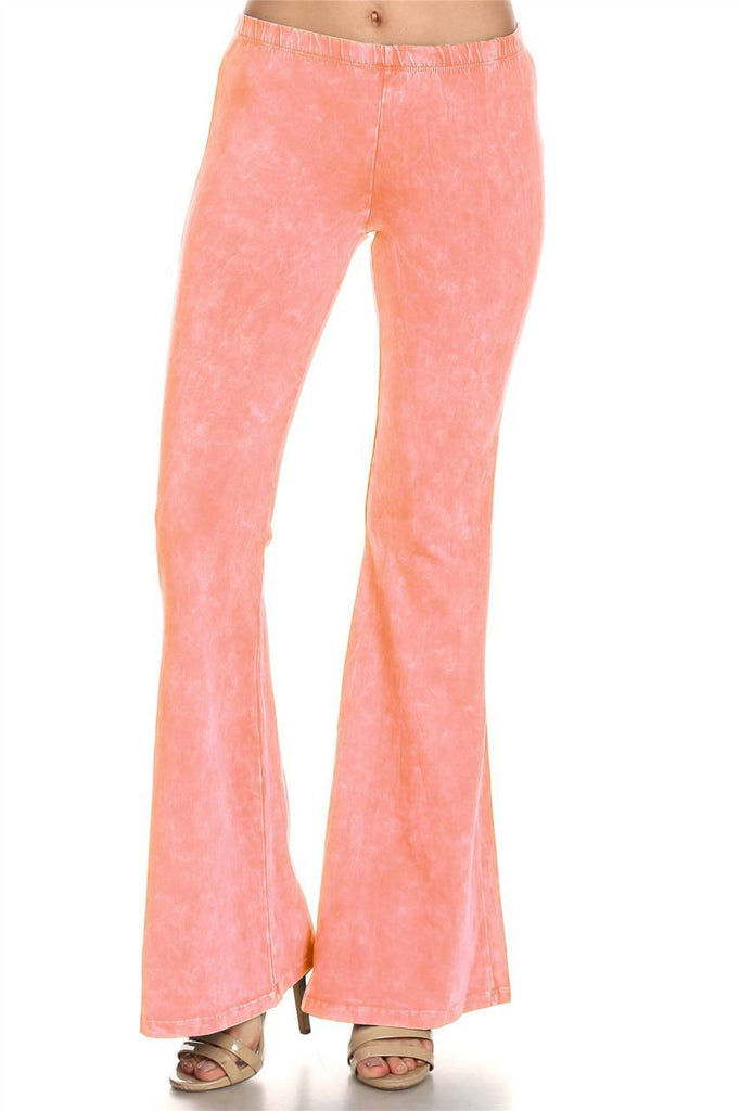 Bell Bottoms Denim Colored Yoga Pants Peach