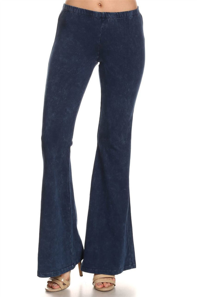 Bell Bottoms Yoga Pants Denim Colored Blue