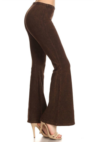 Bell Bottoms Yoga Pants Denim Colored Brown