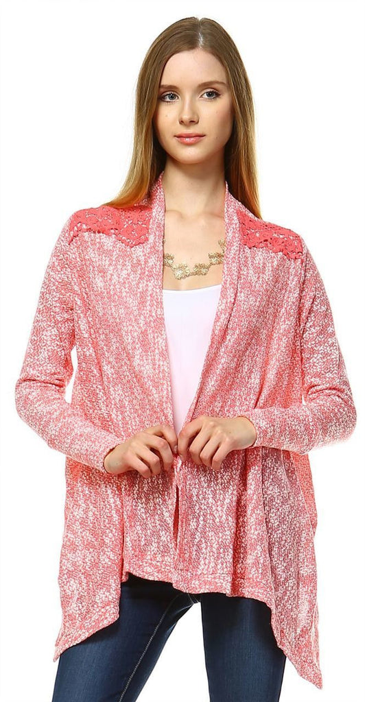 Lace Cardigans Crochet and Knit Coral