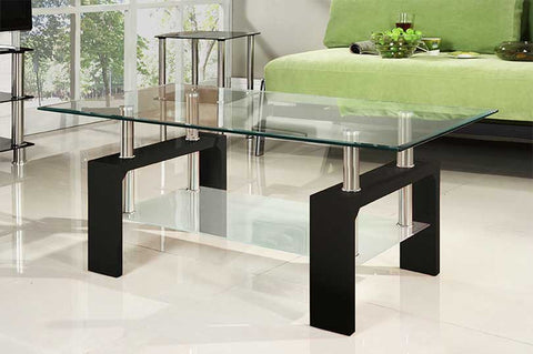 Coffee Table - Wood and Glass  IF-2004