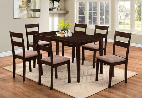 7 Pc Dining set - Wooden Table and chairs  T-1048 / C-1033