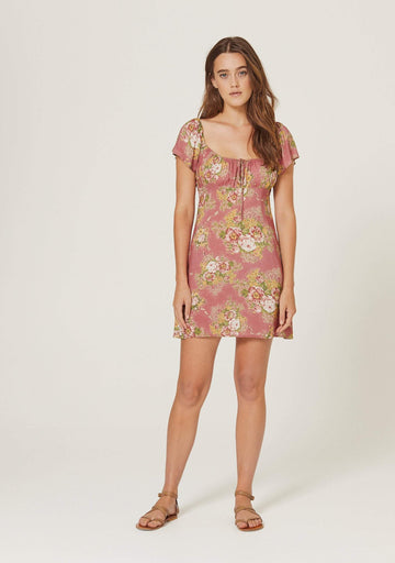 Bonnie Beachside Mini Dress Peach