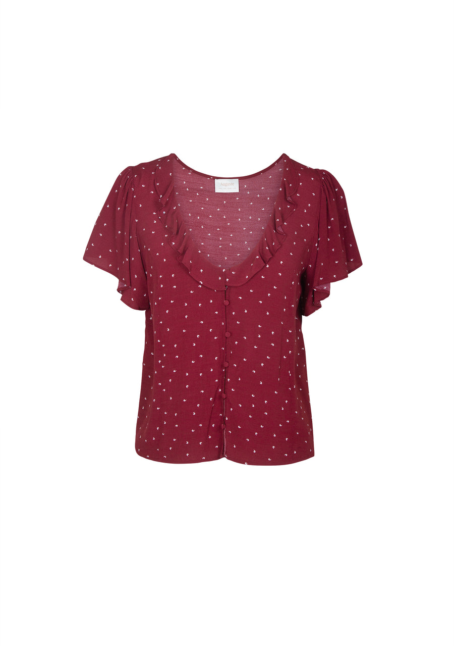 Luna Dusk Blouse Wine