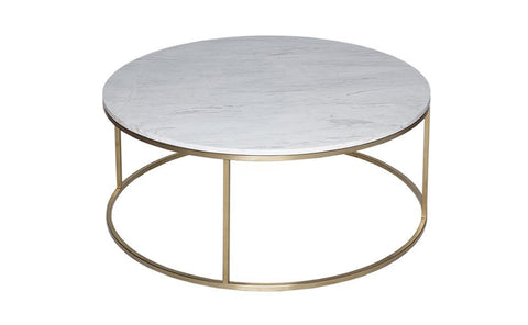 Kensal Marble & Brass Circular Coffee Table