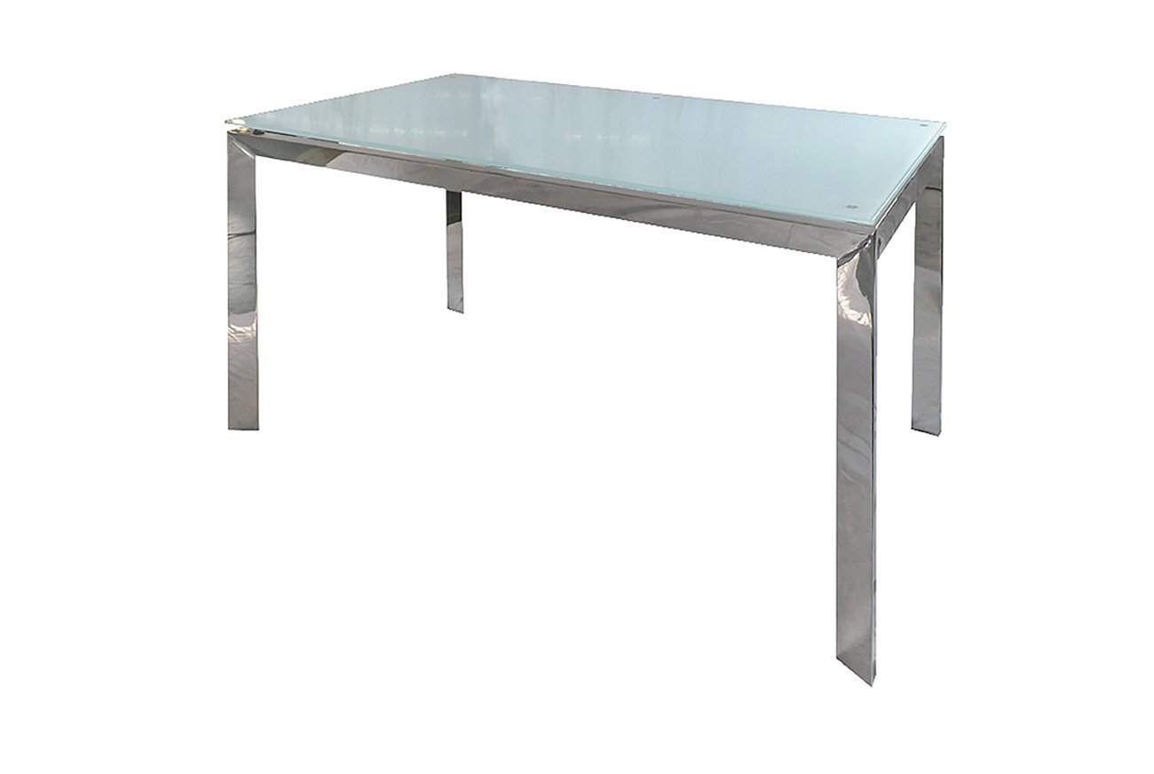 White Glass Dining Table