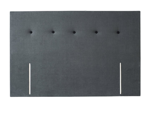 King divan headboard - Essentials GRAPHITE fabric