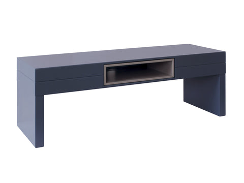 Low TV Table - Savoye GRAPHITE with STONE  accent