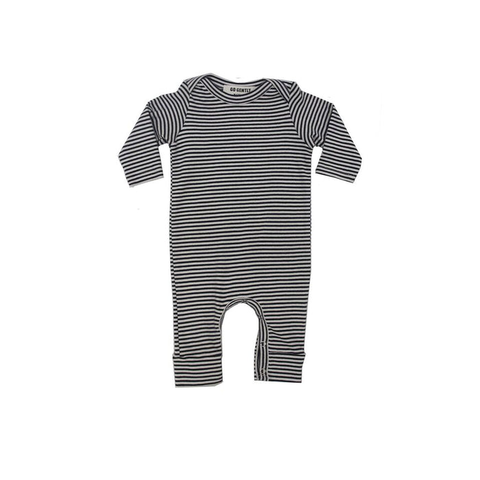 Stripe Romper - Navy - Blue Sage Baby + Kids