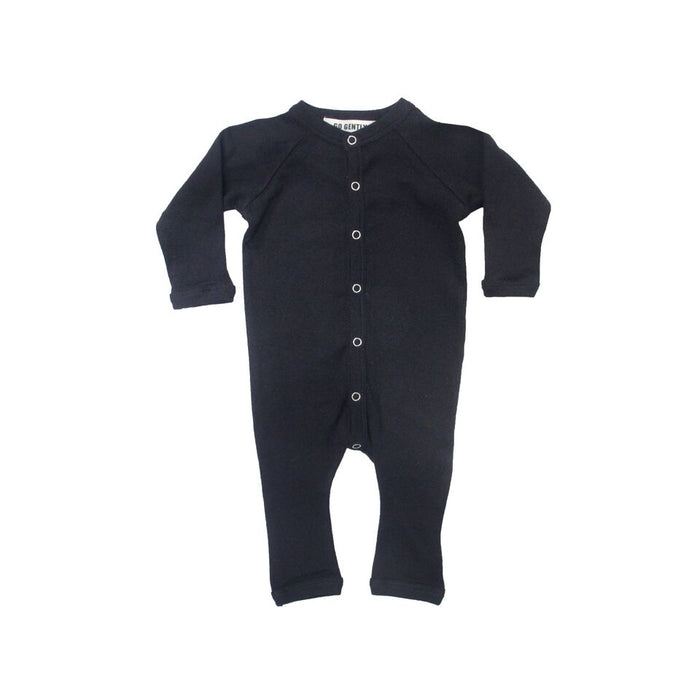 Solid Romper - Black - Blue Sage Baby + Kids
