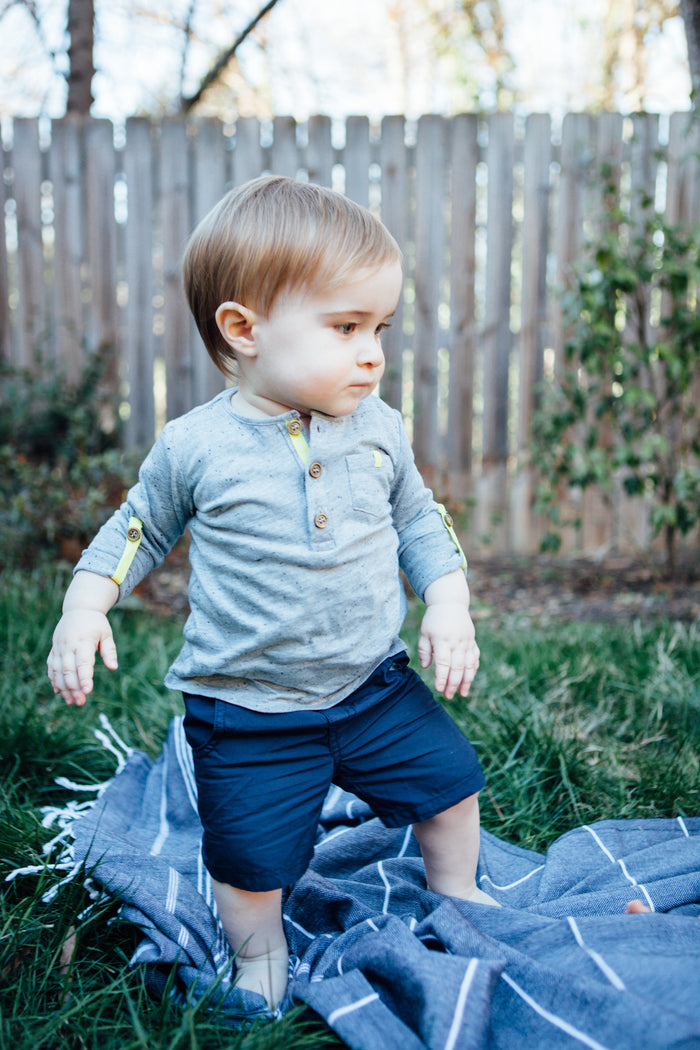 Andy Short in Navy - Blue Sage Baby + Kids