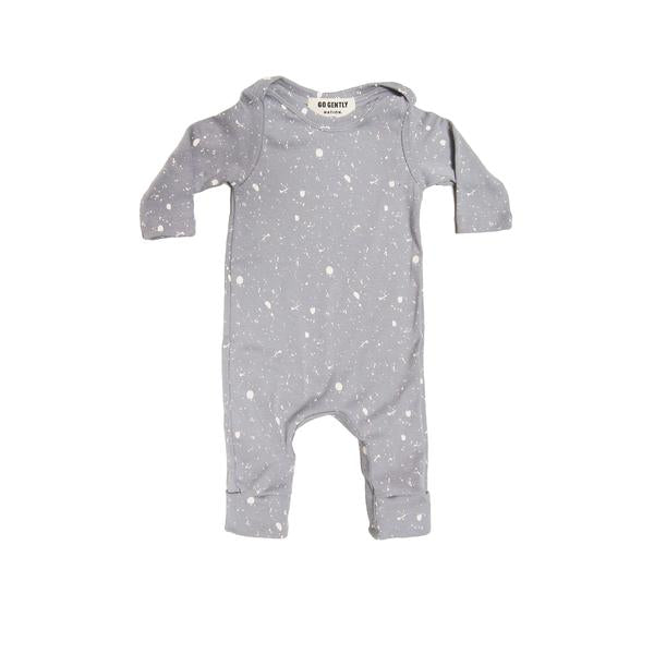 Gray Splatter Romper - Blue Sage Baby + Kids