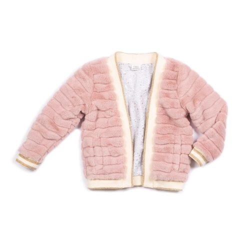 Julia Faux Fur Jacket - Blue Sage Baby + Kids