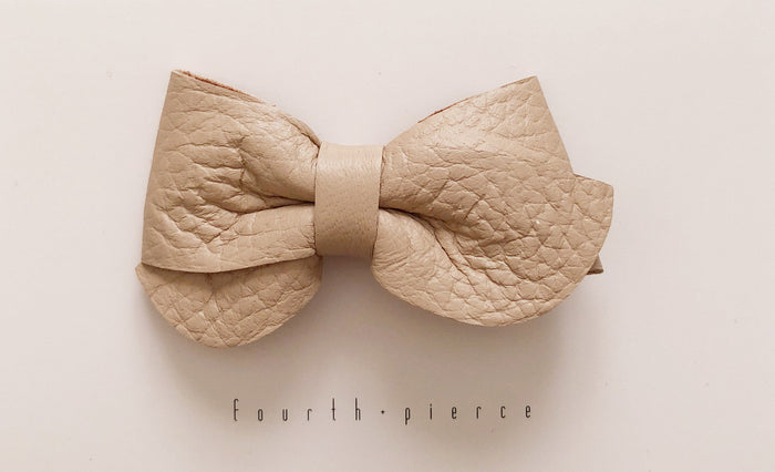 Emmie Leather Bow - Horizon - Blue Sage Baby + Kids