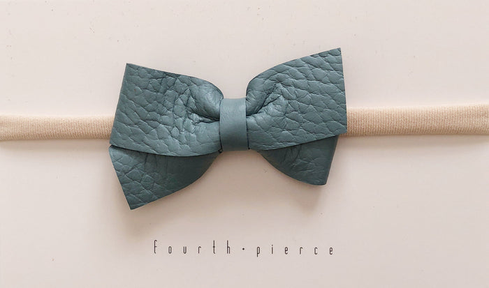 Paige Leather Headband - Dew - Blue Sage Baby + Kids