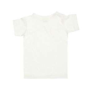 Basic Pocket Tee - White - Blue Sage Baby + Kids